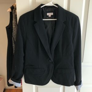 Merona black blazer, worn once, size 14
